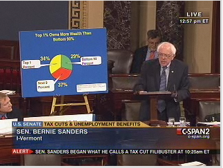 Bernie Sanders pie chart